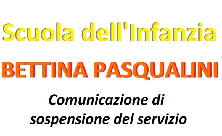 Comunicazione di sospensione del servizio