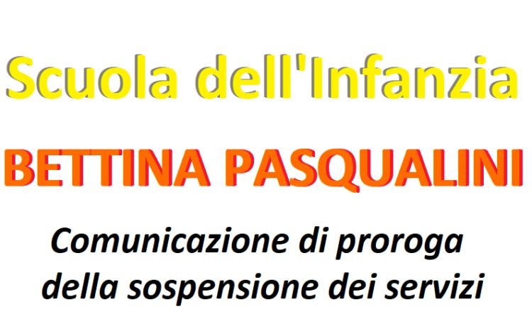 Comunicazione di proroga della sospensione del servizio