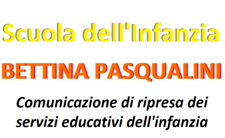 Comunicazione di ripresa dei servizi educativi dell'infanzia